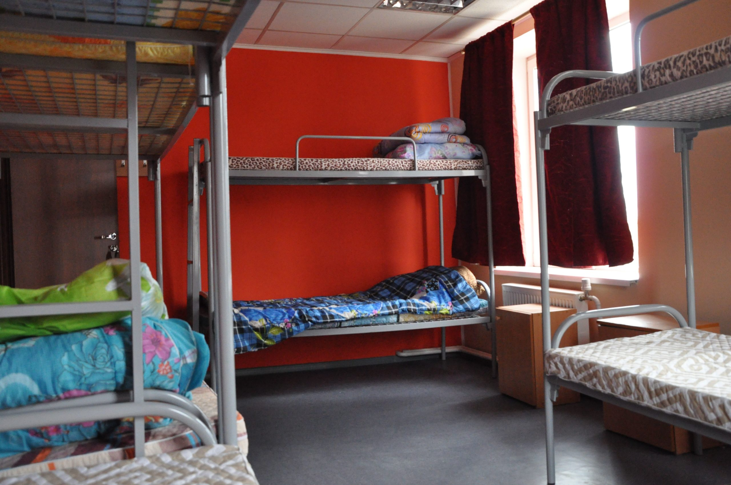 10ти местная комната в хостеле для рабочих